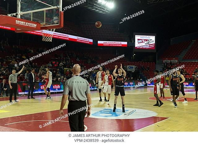Leuven's Joris Fauconnier pictured during the basketball match between Spirou Charleroi and Leuven Bears, Wednesday 04 December 2019 in Charleroi