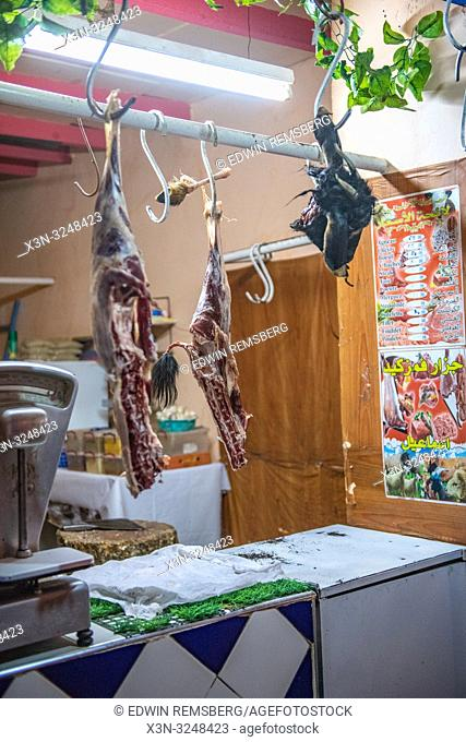 Hanging Slaughtered Meat, Foum Zguid, Morocco