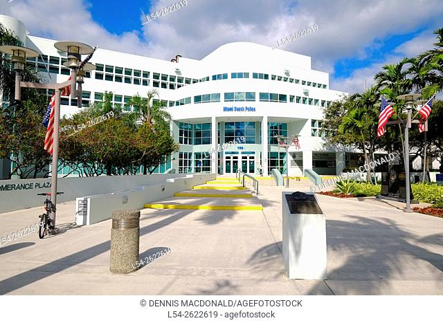 Miami Beach police Florida FL Art Deco Ocean Drive South Beach