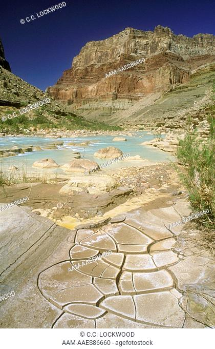 Dried Mud with Calcium Minerals on Little Colorado River, Grand Canyon NP, Arizona