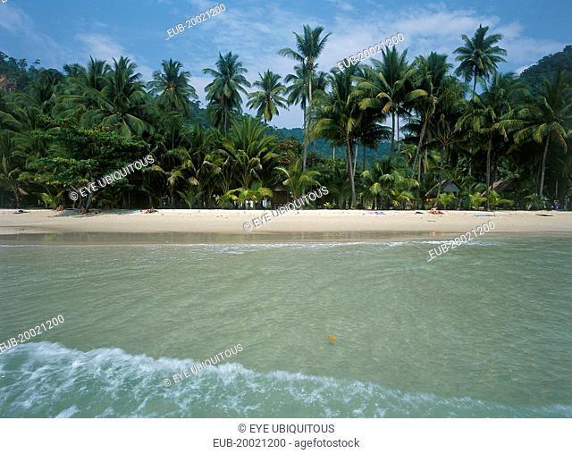 White Sand Beach, Haad Sai Khao seen from the sea