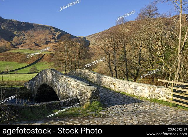 New Bridge over the River Derwent near Rosthwaite in the Lake District National Park, Cumbria, England