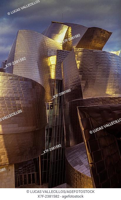Guggenheim Museum by Frank O. Gehry. Bilbao. Vizcaya. Spain