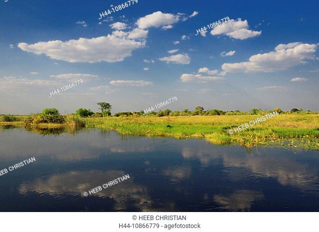 Kwando River, Susuwe Island Lodge, Bwabwata, National Park, Caprivi Region, Namibia, Africa, Travel, Nature