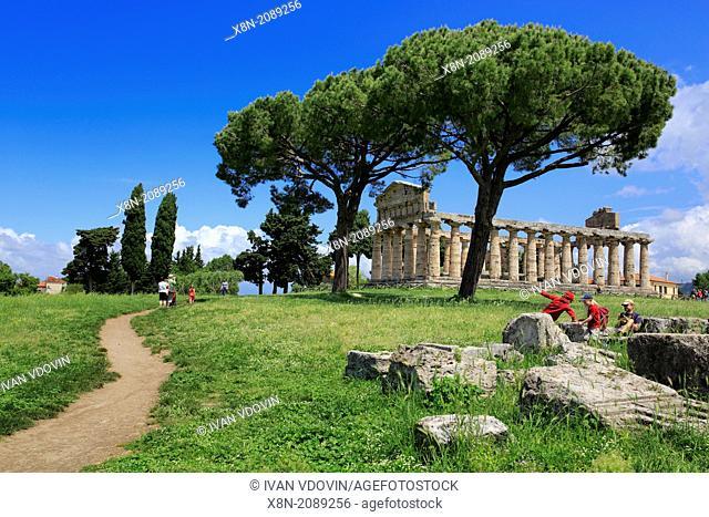 Temple of Athena (500 BC), Paestum, Campania, Italy