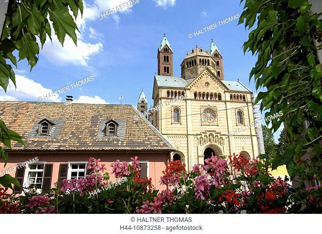 Germany, Rhineland-Palatinate, cathedral, dome, church, Speyer, Rhine river plains, the Palatinate