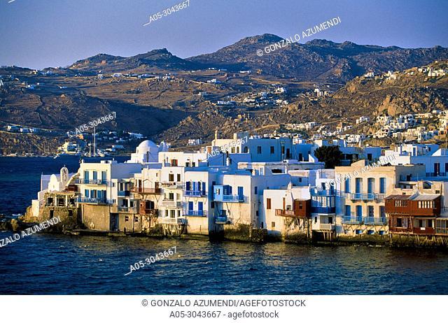 Little Venice. Mykonos Town. Chora. Mykonos Island. Ciclades Islands. Greece