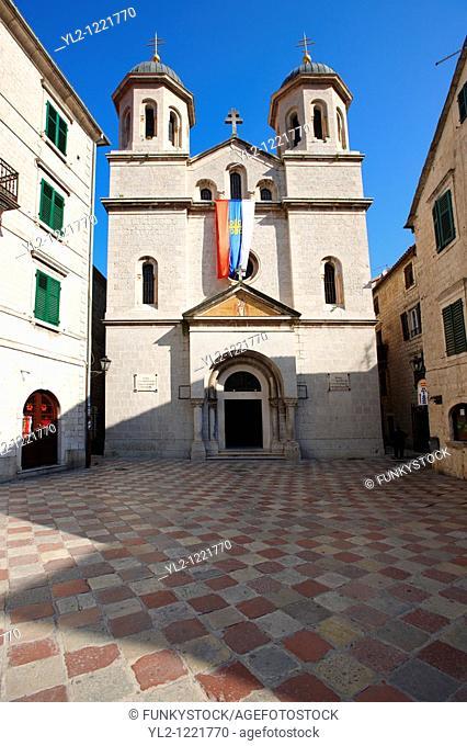 St Nicholas's Serbian Orthodax Church, St Lukes Square, Kotor, Montenegro