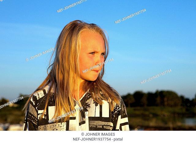 Girl looking away, Skane, Sweden