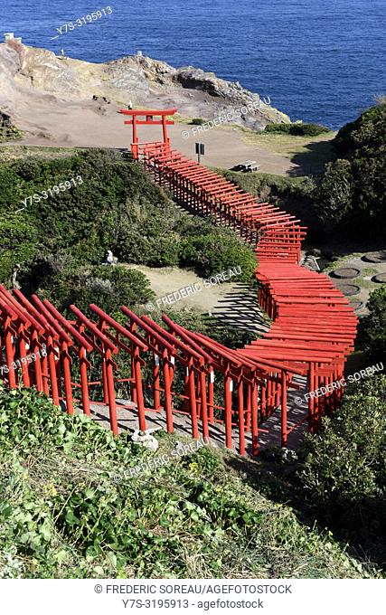 Motonosumi Inari Shrine in Yamaguchi Prefecture, Japan, Asia