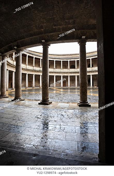 Palacio de Carlo V in Alhambra complex Granada, Spain