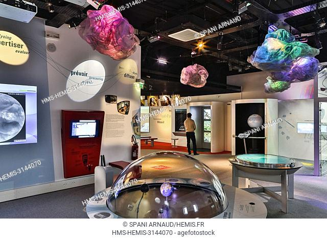 France, Haute Garonne, Toulouse, listed at Great Tourist Sites in Midi-Pyrenees, Space City, visits halls of space exploration exhibition
