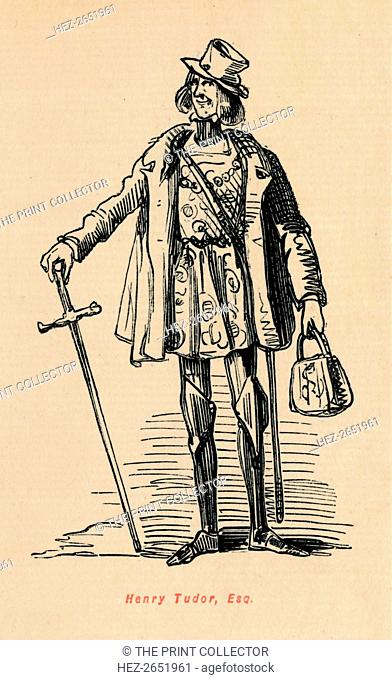 'Henry Tudor, Esq.', c1860, (c1860). A caricature of Henry VII (1457-1509). From The Comic History of England, Volume I, by Gilbert A A'Beckett [Bradbury, Agnew