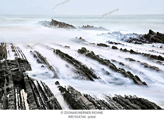 Flysch, Zumaia beach, Basque Country, Spain