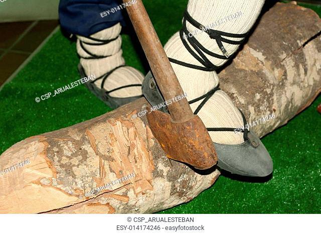 Basque traditional lumberjack