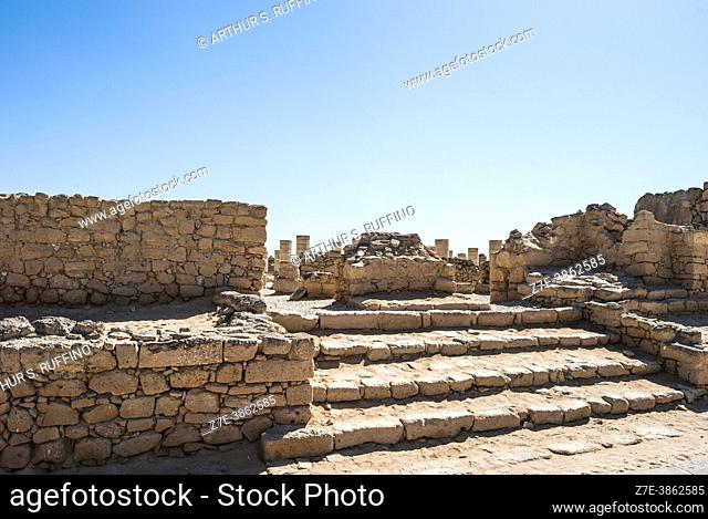 Al-Baleed Grand Mosque. Archaeological ruins. Al-Baleed Archaeological Park. Member of The Land of Frankincense World Heritage Site