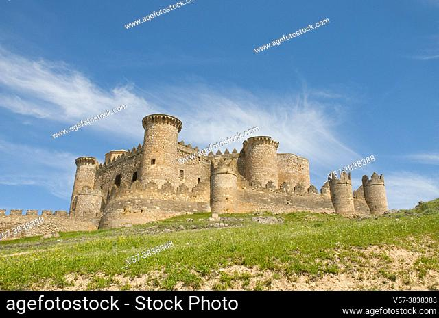 Castle. Belmonte, Cuenca province, Castilla La Mancha, Spain