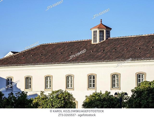 Buildings at Largo da Se, Faro, Algarve, Portugal