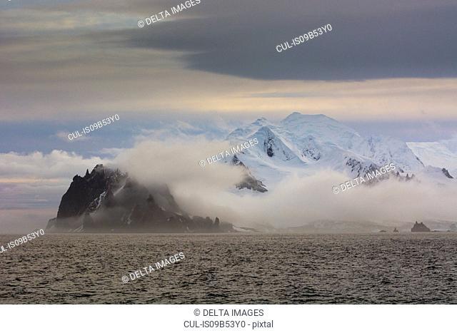 Mist over Greenwich Island, English strait, Antarctica