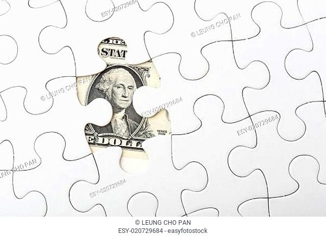 White puzzle with USD