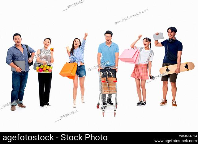 Different age paragraph shopping companion
