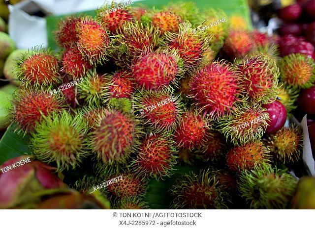 Cluster Of Ripe Rambutan