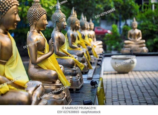 Buddha Statues in Seema Malaka Temple, Colombo, Sri Lanka.