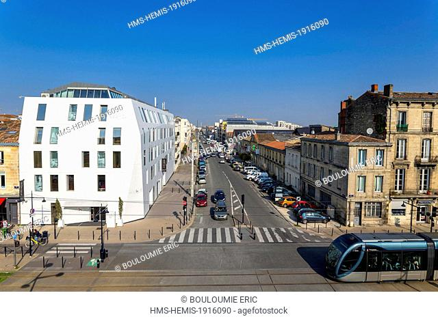France, Gironde, Bordeaux, area listed World Heritage by UNESCO, the luxury Seeko'o hotel made by the architecture studio King Kong