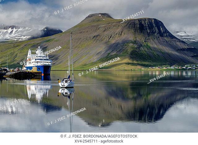 Isafjordur port. Westfjords, Iceland