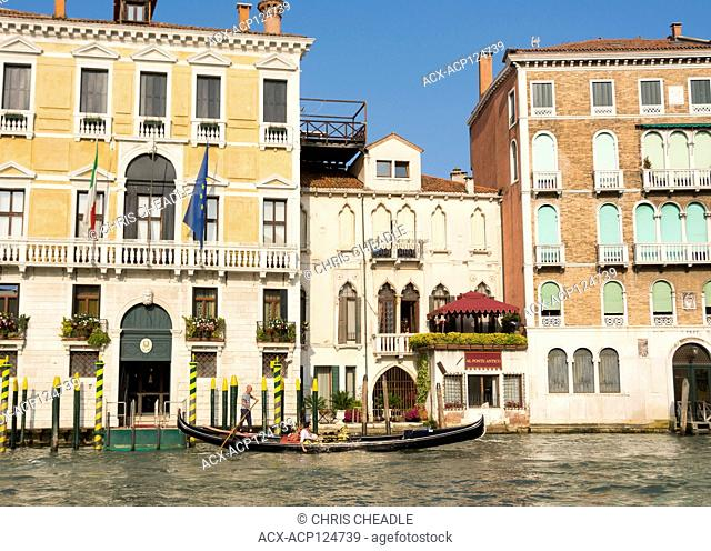 Gondola in the Grand Canal, Venice, Italy
