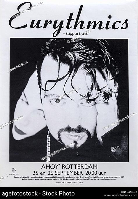 Eurythmics in concert, The Tour, AHOY, Rotterdam, 1989,