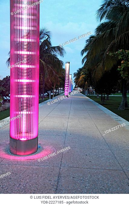 South Point, Miami Beach at sunrise, FLorida, USA