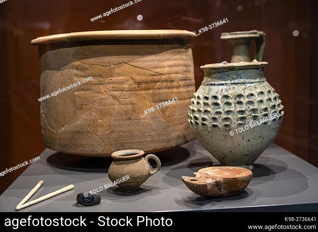 funerary equipment, Monographic Museum of Pollentia, Alcudia, Mallorca, Balearic Islands, Spain