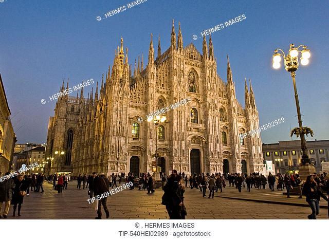 Italy, Lombardy, Milan, the Duomo at dusk