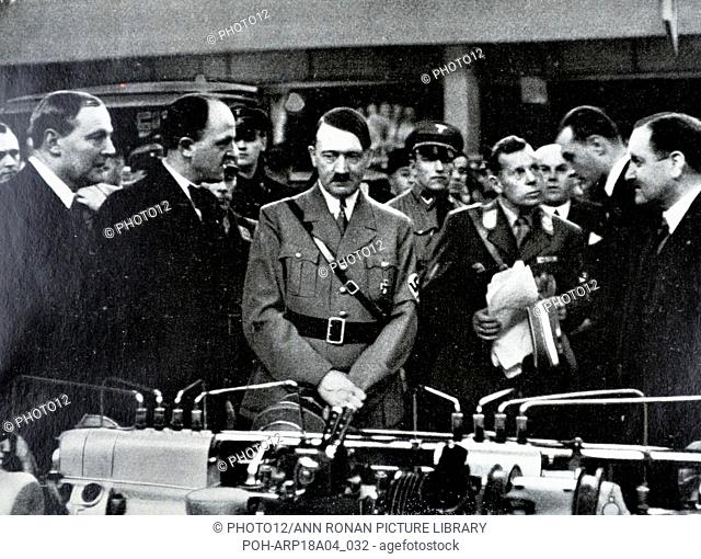 Adolf Hitler 1889-1945. German politician at a automobile exhibition in Berlin 1935 World History Archive
