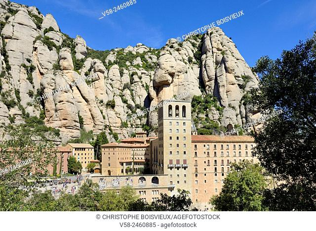 Montserrat abbey, Barcelona province, Catalonia, Spain