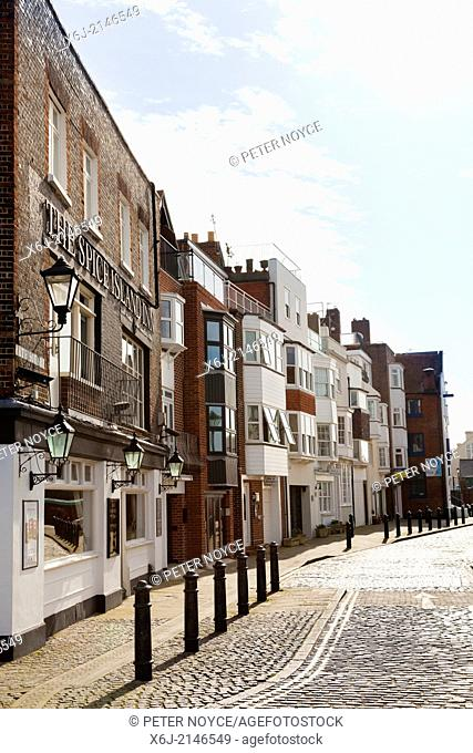 Cobbled streets of Spice Island, Old Portsmouth