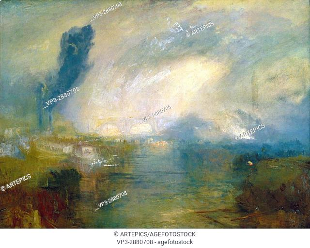Joseph Mallord William Turner - The Thames above Waterloo Bridge