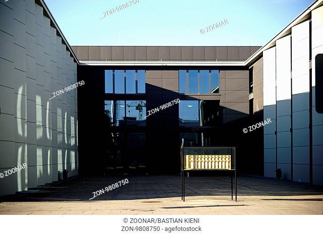 Mainz, Deutschland – Oktober 15, 2016: Das neue und moderne Gebäude der Musikhochschule auf dem Gelände der Johannes Gutenberg Universität am 15