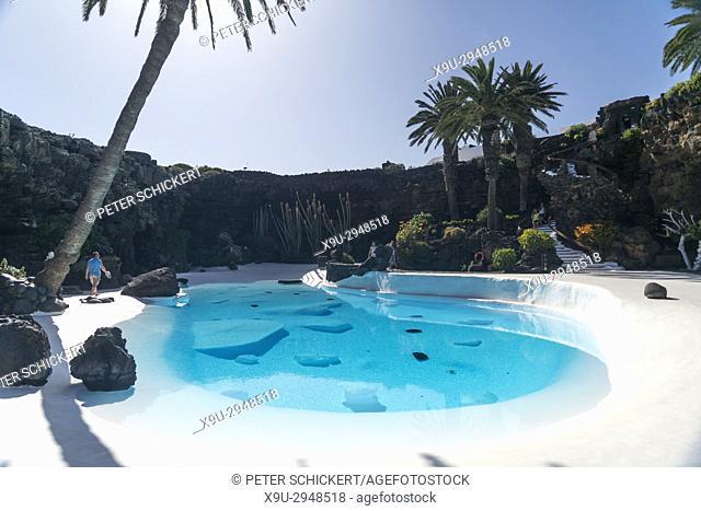 pool of Jameos del Agua, Haria, Lanzarote, Canary Islands, Spain