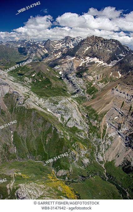 Monte Perdido National Park, Spain - Aerial