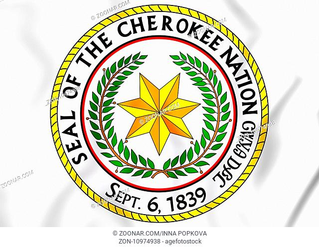Seal of the Cherokee Nation. 3D Illustration