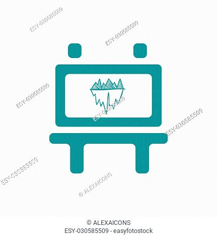 Blackboard icon. Education icon. Presentation board icon. Chart board icon. Business icon