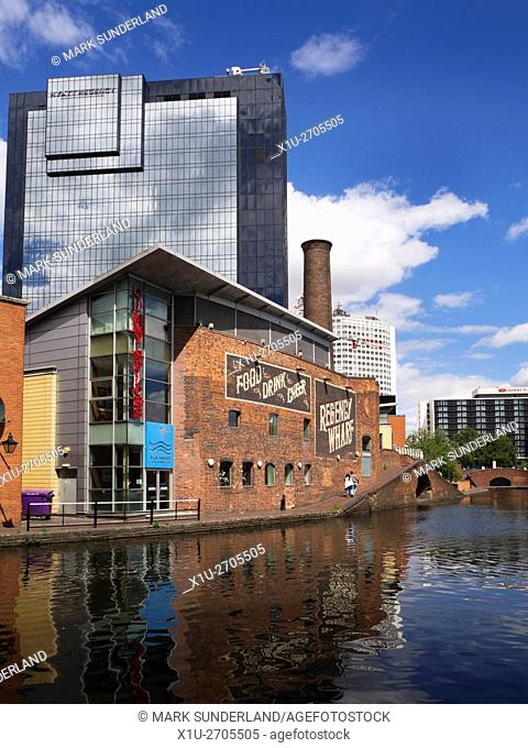 Regency Wharf on the Birmingham Canal at Gas Street Basin Birmingham West Midlands England