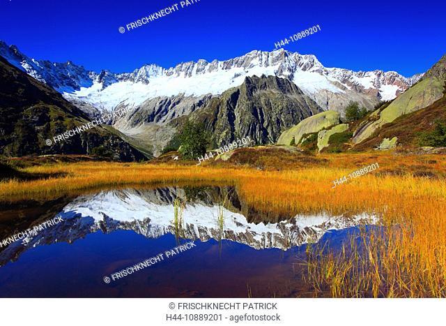 Alps, Alpine panorama, view, panorama, mountains, mountain massif, mountain panorama, mountain lake, peak, Dammastock, cliff, rock, mountains, body of water