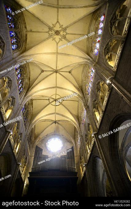 Interior of the Cathedral of Oviedo, Asturias, Spain