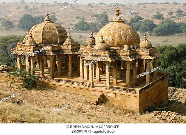 Bada Bagh cenotaphs, near Jaisalmer, Rajasthan, India