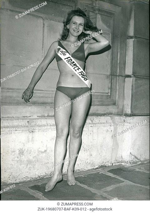 Jul. 07, 1968 - From Laval in Bretagne, Maryvonne Lachaze was just named 'Miss France'. She is 20 years old, blonde and blue-eyed