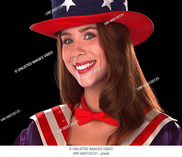 Cute Uncle Sam Girl Close-Up