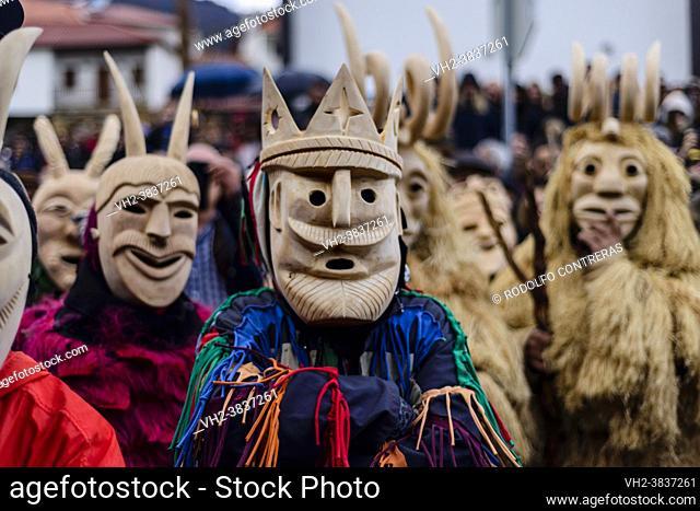 Caretos of Lazarim (masked figures), Portugal